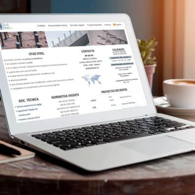 diseño web wordpress asturias studsteel creagenio
